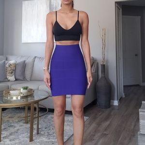 BCBG MaxAzria Purple Bandage Skirt!